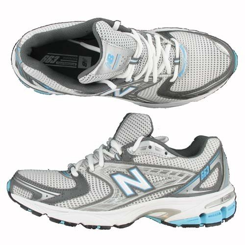 New Balance Women's WR663 Stability Running Shoe,White/Grey,10 B US