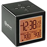 Amplicom TCL Vibe Digital Display Battery-Powered Dual Alarms Alarm Clock with Vibrating Wristband Alert for Home and Travel