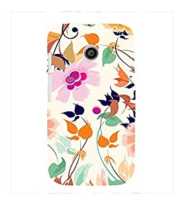 Fuson Premium Printed Hard Plastic Back Case Cover for Motorola Moto E