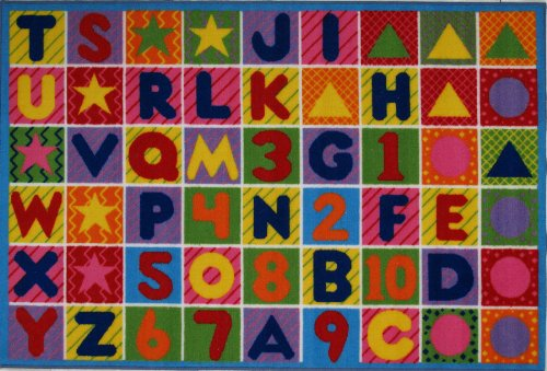 Fun Time - Numbers & Letters 8 x 11 Play Rug FT-2011-P 0811