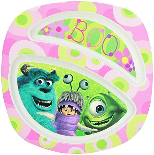 The First Years Disney/Pixar Monsters Plate, Pink Pink - 1