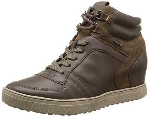 Geox D Amaranth High D, Sneaker, Donna, Marrone (Dove Grey), 37