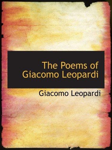 Les poèmes de Giacomo Leopardi