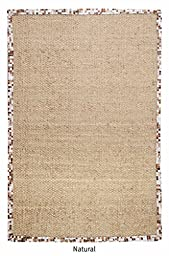 The Rug Republic Brazilia Hand Woven Hemp & Natural Hide Rug