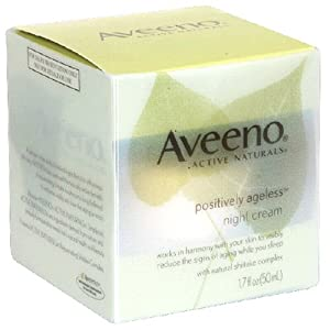 Aveeno energetic Naturals Positively Ageless evening lotion with natural and organic Shiitake Complex, 1.7-Ounce Jar