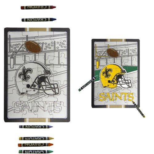 New Orleans Saints Children Fun Color Your Own Puzzle Set - 1