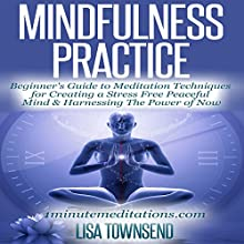 Mindfulness Practice: Beginner's Guide to Meditation Techniques for Creating a Stress Free Peaceful Mind & Harnessing the Power of Now (       UNABRIDGED) by Lisa Townsend Narrated by Sandra Brautigam
