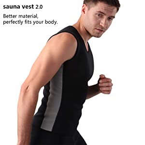 db6a6ce479 Cimkiz Hot Sweat Vest Neoprene Sauna Vest for Men Weight Loss Tummy Fat  Burner Slimming Shapewear Hot Thermo ...