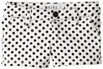 Roxy Girls 7-16 Dot Com Shorts, Sea Spray Dot Print, 14