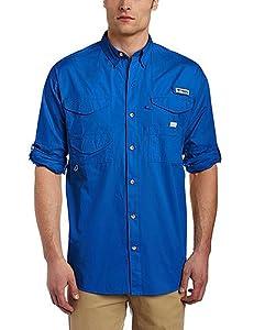 Columbia FM7120 Men's Bonehead LS Shirt, Vivid Blue, PFG - XS