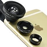 First2savvv JTSJ-CJ3-01 black Universal Detachable 0.4X Super Wide Angle + 0.29X fish eye + Macro lens professional Mobile phone Lens for Acer ICONIA TAB W500 Series ICONIA TAB A500 Series ICONIA TAB A100 Series ICONIA TAB W501 Series ICONIA TAB A510 Ser