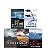 Ann Cleeves Collection 5 Books Set (Shetland Series) (Dead Water, Raven Black, White Nights, Red Bones, Blue Lightning) Ann Cleeves