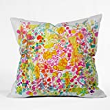 DENY Designs Stephanie Corfee Bubble Garden Throw Pillow, 16-Inch by 16-Inch