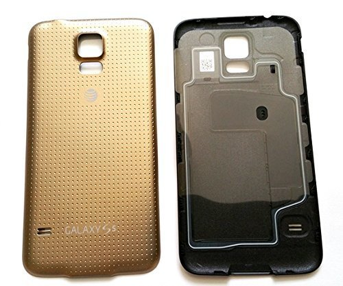 OEM Original Battery Door Cover Housing Back Case for Samsung Galaxy S5 AT&T G900A Replacement Back Cover (Gold) (S5 Back Cover Replacement Gold compare prices)