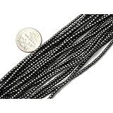 2mm Round Black Hematite Beads Strand 15 Inch Jewelry Making Beads