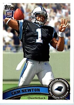 2011 Topps Football Card # 200 Cam Newton RC / (stands in background) - Carolina Panthers (RC - Rookie Card) NFL Trading Card in a Protective Case!