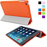 Snugg iPad Mini 1 / 2 / 3 Ultra Thin Smart Case in Orange - Flip Stand Cover with Auto Wake and Sleep for Apple iPad Mini & iPad Mini 2 Retina & iPad Mini 3