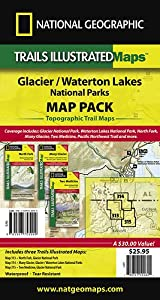 Glacier/Waterton Lakes National Park Map Pack (includes #313, #314, and #315)