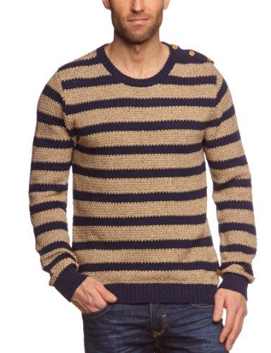 Selected Homme Jeans Mondes Split Crew Neck C Men's Sweatshirt Navy X-Large