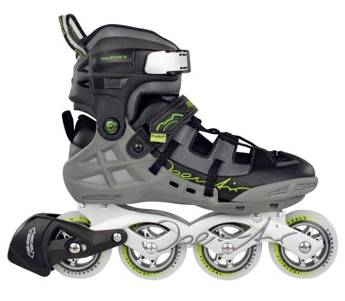 Buy air inline skates & rollerblades case - Powerslide Phuzion 2 Open Air Inline Skates - Black / Grey / Green, 9.5