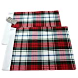 100% Cotton Christmas Macduff Tartan Pack of 2 Placemats