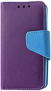 Reiko 3-In-1 Wallet Case for LG G2, Optimus G2, G2 D802 - Retail Packaging - Purple