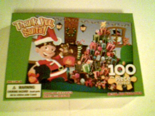 "100 Piece Puzzle 11"" X 8.25"" - Thank You, Santa!"