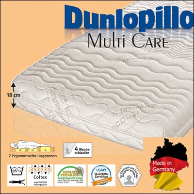 die besten matratzen dunlopillo multi care coltex matratze 160 x 200 cm h3 test. Black Bedroom Furniture Sets. Home Design Ideas