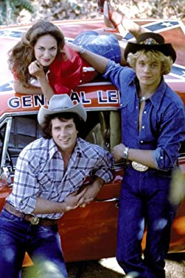 Dukes Of Hazzard General Lee & Cast 24x36 Poster