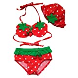 Your Gallery Lovely Strawberry Bikini for Little Girl Bathing Wear, 6T, 5-6 Years Old thumbnail