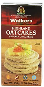 Walkers  Highland Oatcakes, Savory Crackers, 10.6-Ounce Boxes (Pack of 4)
