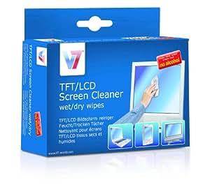 V7 Display Reinigungstücher Feuchttuch & Trockentuch einzeln verpackt (je 10 Stück) für Monitor, Notebook, Tablet PC, TV, Apple iPad, iPod, iPhone, iMac, Smartphone, Telefon, Projektoren, Display, Bildschirm, Fernseher