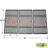 bbq factory JGX993 Replacement Cast Iron Cooking Grid Porcelain coated Set of 3 for Select Gas Grill Models By Charbroil, Cuisinart, Kenmore, Tuscany and Others