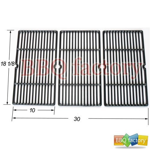 65993 Porcelain Cast Iron Cooking Grid Grate Replacement For Gas Grill Models By Charbroil, Kenmore And Others, Set Of 3 front-32742
