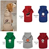 Casual Canine Sports Hound Hoodie, XX-Small, Football
