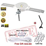 LAVA HD8008 360 Degree Omnidirectional HD TV 4K Omnidirectional TV Antenna Top Rated OmniPro HD-8008 + Installation Kit & TV Antenna Jpole