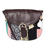 Multicolor digitally printed women's designer sling/clutch/handbag