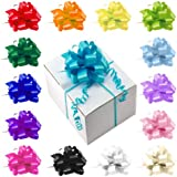 """Set of Five Satin 5"""" Elegant Pull String Bows For Gifts and Decorating - Choose From 15 Bright Colors"""
