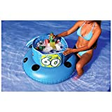 Sportsstuff Heavy Duty 48 Can Capacity Pool Lake Floating Cooler With 4 Molded Cup Holders, #40-1010