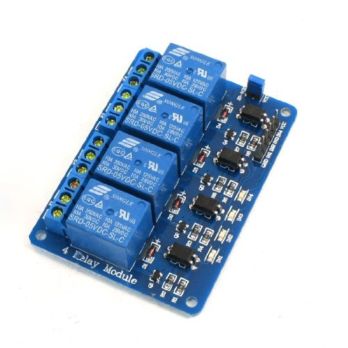 Water & Wood 4-Channels Isolated Optocoupler Relay Module Board 5Vdc For 51/Avr/Arm