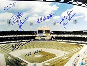 Chicago White Sox Comiskey Park autographed photo signed by 8 Kittle, Wilhelm,... by Sports Memorabilia