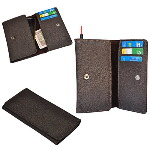 Ding Dong PU Leather Mobile Wallet Flip Pouch Case Cover For Karbonn A27+  available at amazon for Rs.289