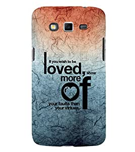 EPICCASE love and to be loved Mobile Back Case Cover For Samsung Galaxy Core Prime (Designer Case)
