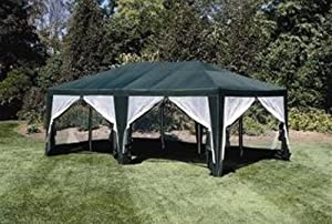 Deluxe Party Tent, Sun Shelter 20ft x 12ft in Green by Formosa Covers