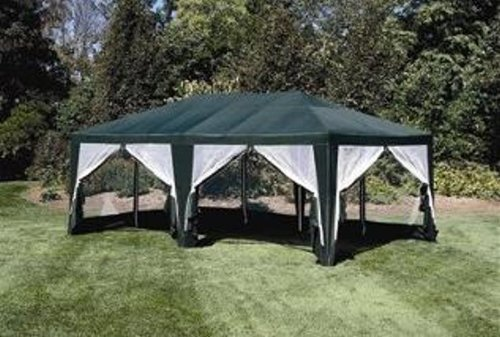 Sun Mart Deluxe Screen House Party Tent 20x12ft Green