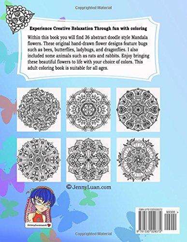 Mandala Doodle Flower: Coloring Book
