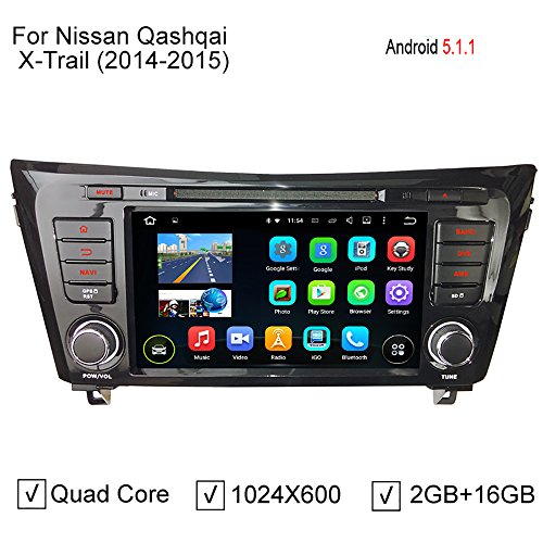 GreenYi New 8 Inch ROM 16GB Quad Core Android 5.1.1 PC Car DVD Radio Fit For Nissan Qashqai X-Trail 2014 2015 GPS Navigation 3G WiFi DVR OBD (Wifi Obd Nissan Xtrail compare prices)