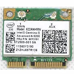 Hp 2740p 2540p 4420s 4720s 6540b 8440p 8540p Intel Centrino 6200 Half Mini Pcie Wireless Wifi Wlan 300m Card 572509-001