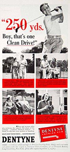 1938-ad-vintage-dentyne-chewing-gum-american-chicle-co-golf-golfing-golfer-ywd3-original-print-ad
