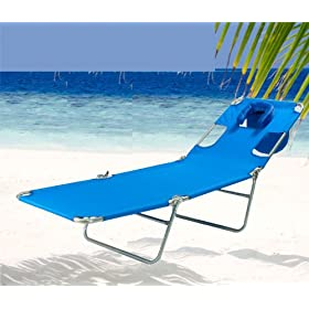 Ostrich Beach Chaise / Lounger - Solid Blue